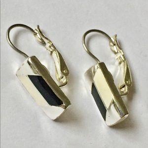 Vintage black white dangle earrings